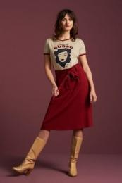 Ava Skirt Milano Crepe True Red