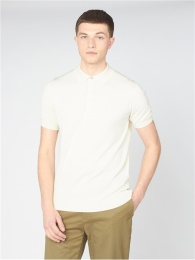 SHORT SLEEVE SIGNATURE KNITTED POLO IVORY