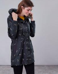 Golightly Print Waterproof Packaway Jacket Black Bee