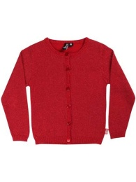 Merle Cardigan Red glitter