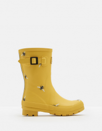 Molly Mid Height Wellies Gold Botanical Bee