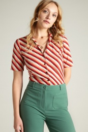 Patty Blouse Daze Popsicle Orange