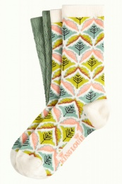 King Louie socks 2-Pack Medaillon Cream