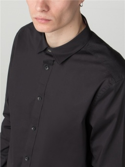LS STRETCH SHiRT Black
