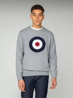 Boucle Target Sweat Grey Denim