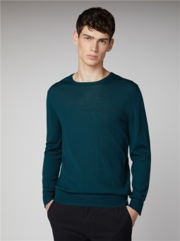 Merino Crew Neck Forest Green