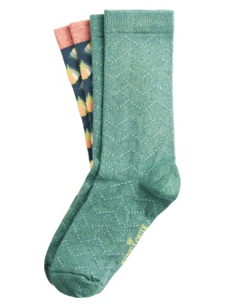 Socks 2-Pack Namaste Dragonfly Green