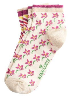 King Louie short socks 2-Pack Fauna Cream