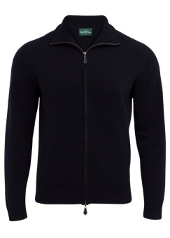Ballater zip neck navy