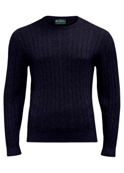 Alan Paine Honley Cable Dark Navy