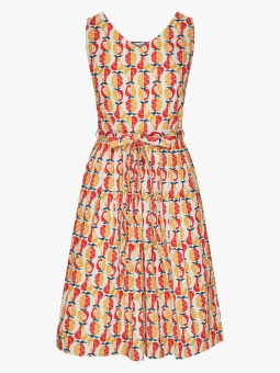 Sing Me a Song Dress – Fruit Salad Orange/Red