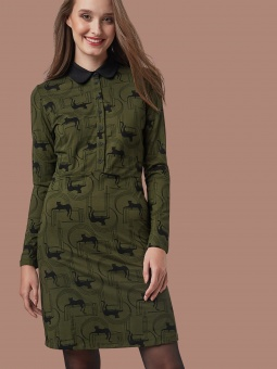 Golden Autumn Dress Panther Olive
