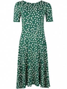 Charlotte Dress Hunter Green/Chalk BIG FUNNY DOTS