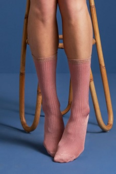 Socks 2-Pack Lurex Stripe dusty rose