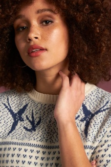 Yoke Knit Jumper Songbird
