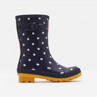 Joules mid height wellies Molly french spot navy