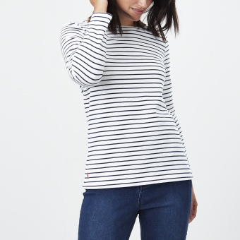 Harbour Cream Navy Stripe