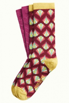 Socks 2-Pack Namaste Cherise Red