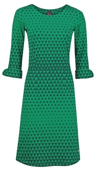 Dress Sterre Triangle green