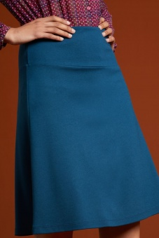 Border Skirt Milano Uni pond blue