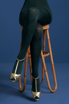 tights solid pine green
