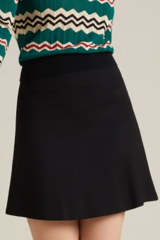 Border Skirt Milano Uni black