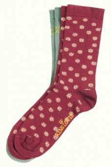 Socks 2-Pack Orbit cherise red