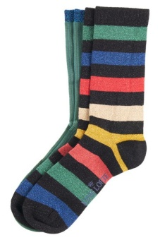 King Louie socks 2-Pack Lurex Stripe fir green