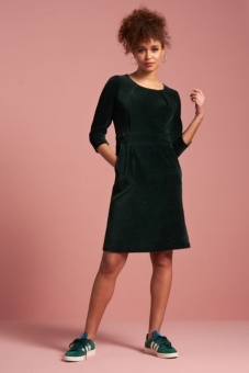 mona dress rib velour
