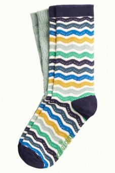 King Louie socks 2-Pack Sassy Blue