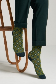 Socks 2-Pack Diamond olive green