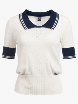 A Walk At The Sea Knit Top - White Uni
