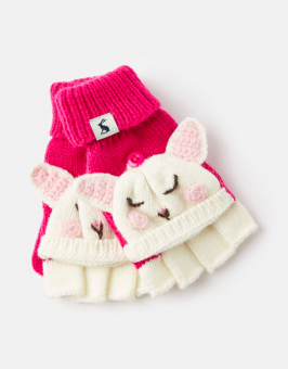 Chummy Knitted Bunny Character Converter Gloves Tom Joules