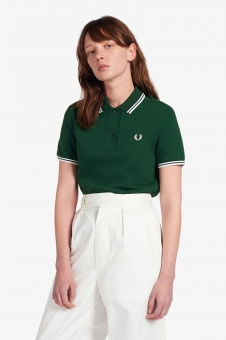 Twin Tipped Fred Perry Shirt Ivy
