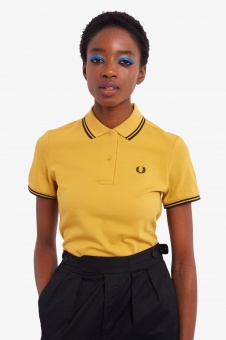 Fred Perry polo shirt Twin Tipped Sweetcorn