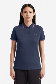 Twin Tipped Fred Perry Shirt Deep Carbon
