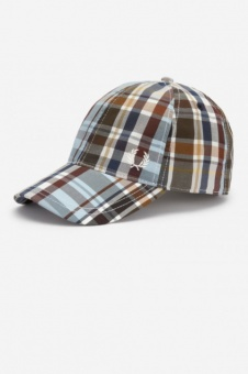 Madras Check Baseball Cap