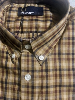 FP Twill Checked Shirt Bronze