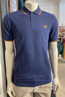Twin Tipped Fred Perry Shirt Dark Carbon/Deep Red/Amber