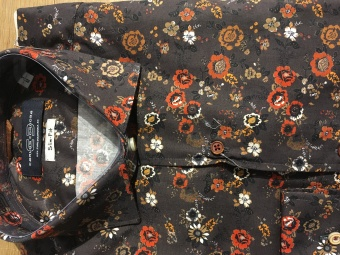 Carlos Cordoba Shirt Flowers Brun