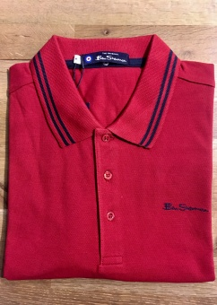 Classic Tipped Polo Ruby