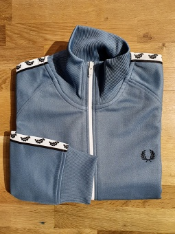 Taped Track Jacket Blue Slate
