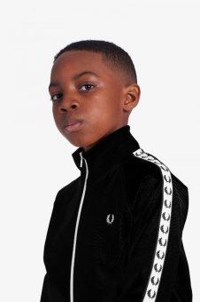 Kids tape track jacket black