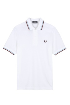 M12 The Fred Perry shirt white/ice/maroon