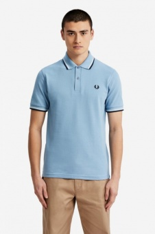 Fred Perry polo shirt M12 Sky/White