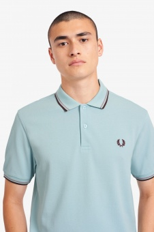 Fred Perry polo Shirt twin tipped Chalk Blue