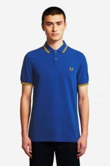 The Fred Perry Shirt - Cobalt/Gold/Gold M3600