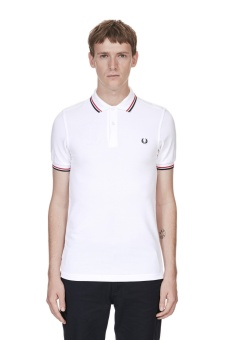 Twin tipped shirt white/red/navy