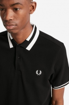 BLOCK TIPPED POLO black