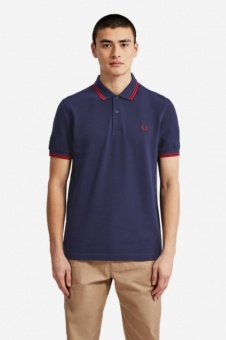 Twin Tipped FP Shirt Carbon Blue/Red